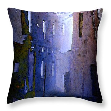 Blue Mesa Throw Pillow by David Hansen