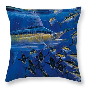 Blue Millennium Throw Pillow by Carey Chen