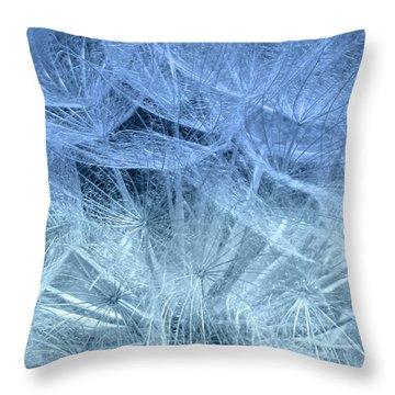 Blue Mist Throw Pillow by France Laliberte