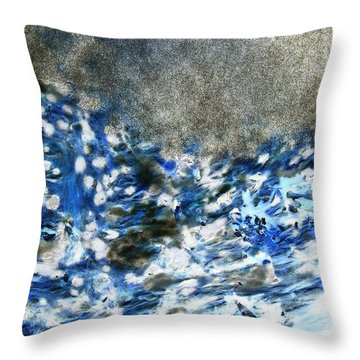 Blue Mold Throw Pillow
