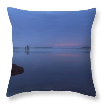 Blue Moment Throw Pillow by Veikko Suikkanen
