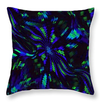 Blue Monday Throw Pillow by Alec Drake