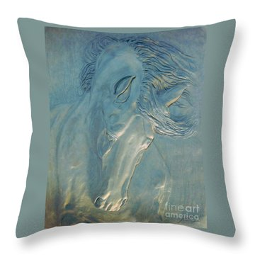 Throw Pillow featuring the digital art Blue Monday by Suzette Kallen
