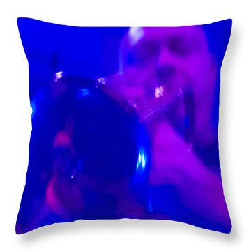 Throw Pillow featuring the photograph Blue Mood by Alex Lapidus