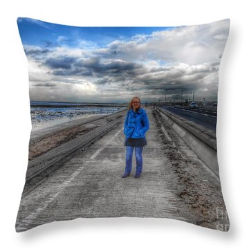 Blue Moods Throw Pillow
