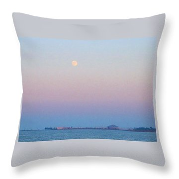 Blue Moon Eve Throw Pillow