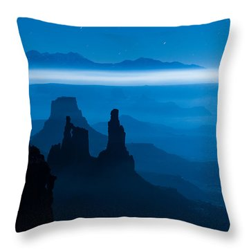 Throw Pillow featuring the photograph Blue Moon Mesa by Dustin  LeFevre