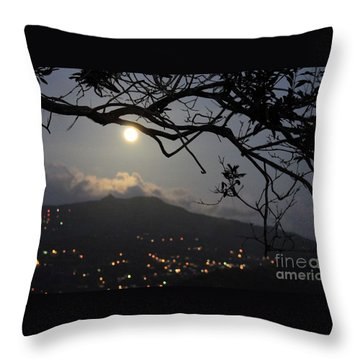 Blue Moon Over El Yunque Throw Pillow