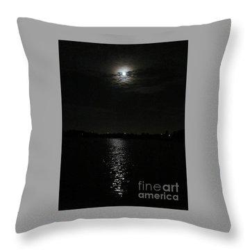 Blue Moon Over Orlando Throw Pillow