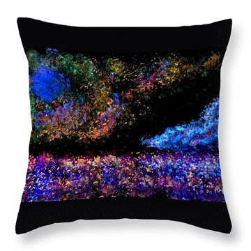 Throw Pillow featuring the painting Blue Moon by Paula Ayers