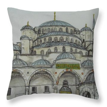 Blue Mosque Istanbul Turkey Throw Pillow