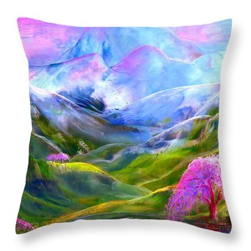 Blue Mountain Pool Throw Pillow