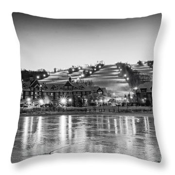 Blue Mountain Ski Resorts Throw Pillow by Charline Xia