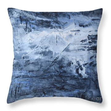 Blue Mountain Throw Pillow by Susan  Dimitrakopoulos