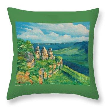 Blue Mountains Australia Throw Pillow