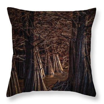 Blue Mt. Cypress Throw Pillow