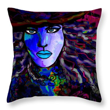 Blue Mystique Throw Pillow by Natalie Holland