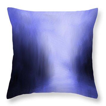 Blue Night Throw Pillow by Kume Bryant