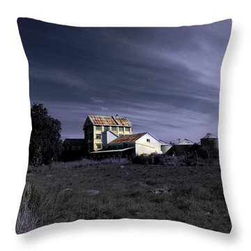 Throw Pillow featuring the photograph Blue Night by Nareeta Martin