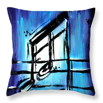 Blue Notes  Throw Pillow