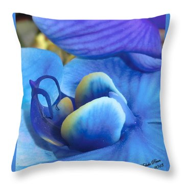 Blue Oasis 2  Throw Pillow