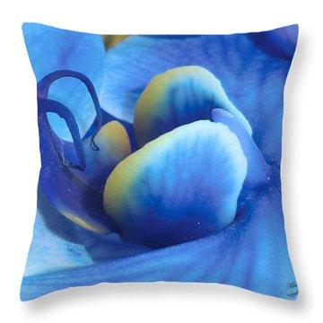 Blue Oasis Throw Pillow