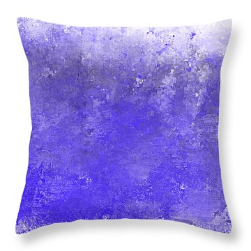 Blue Ocean Wave Throw Pillow