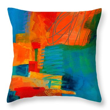 Blue Orange 2 Throw Pillow