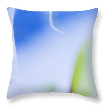Throw Pillow featuring the photograph Blue Orchid Abstract by Bradley R Youngberg