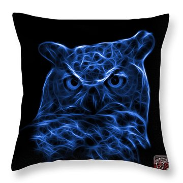 Blue Owl 4436 - F M Throw Pillow by James Ahn