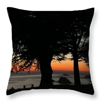 Blue Pacific At Sunset Throw Pillow