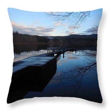 Blue Padden Reflection Throw Pillow by Karen Molenaar Terrell