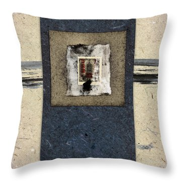 Blue Paint And Papers Throw Pillow