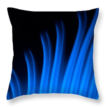 Blue Palm Throw Pillow by Darryl Dalton
