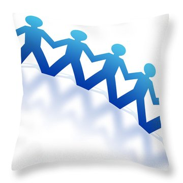 Blue Paperman Throw Pillow by Aged Pixel
