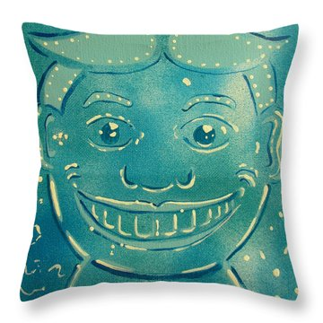 Blue Party Throw Pillow by Patricia Arroyo