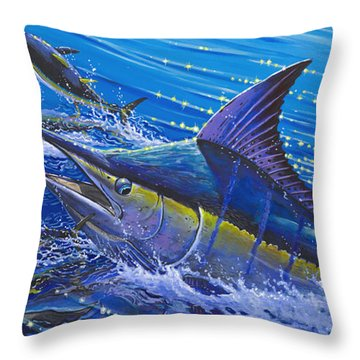 Blue Persuader  Throw Pillow by Carey Chen
