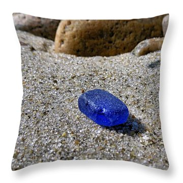 Throw Pillow featuring the photograph Blue Piece by Janice Drew