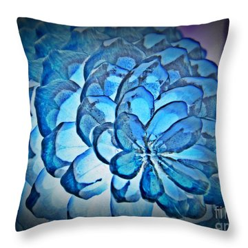 Blue Pine Cone 2 Throw Pillow by Chalet Roome-Rigdon