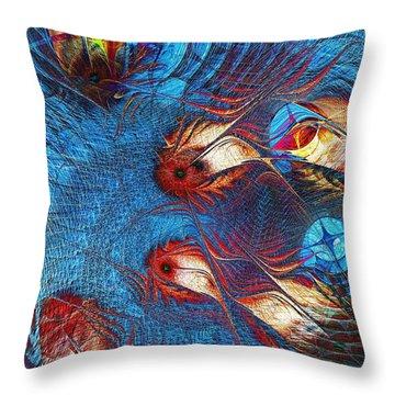 Blue Pond Throw Pillow by Anastasiya Malakhova