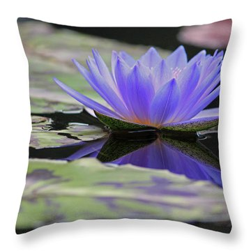Blue Purple Dreams Throw Pillow