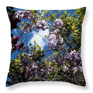 Throw Pillow featuring the photograph Blue Rain by Susanne Baumann