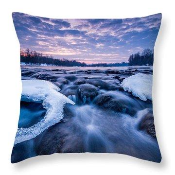 Blue Rapids Throw Pillow by Davorin Mance