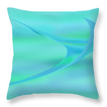Blue Ray Throw Pillow by Stephanie Grant