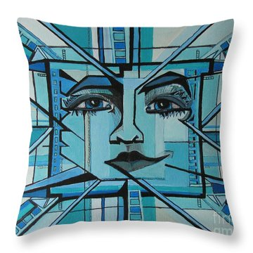 Blue Ray - Sun Throw Pillow
