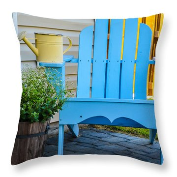 Blue Repose  Throw Pillow