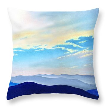 Blue Ridge Blue Above Throw Pillow