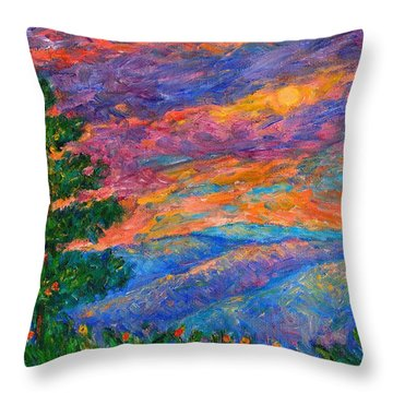 Blue Ridge Jewels Throw Pillow