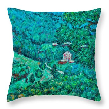 Blue Ridge Magic Throw Pillow by Kendall Kessler