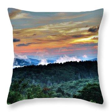 Blue Ridge Mountain Sunrise  Throw Pillow